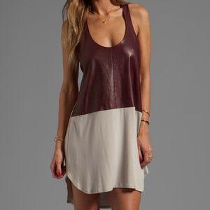 Mason Michelle Mason Leather Front Tank Dress XS/P